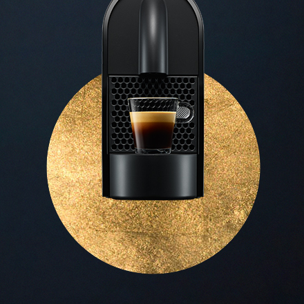 Nespresso coffee machine creative with an espresso